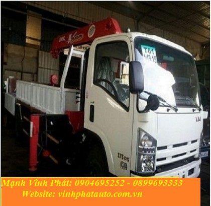 xe tải isuzu gắn cẩu tự hành