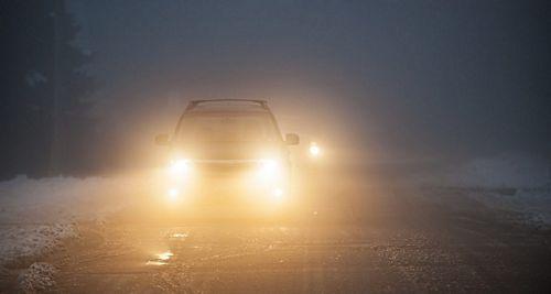 bật đèn sương mù khi lái xe